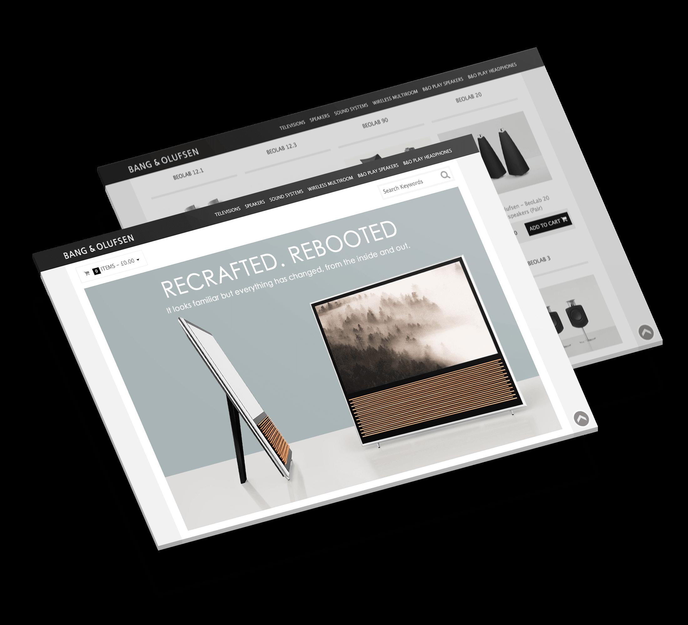 Bang & Olufsen - web design