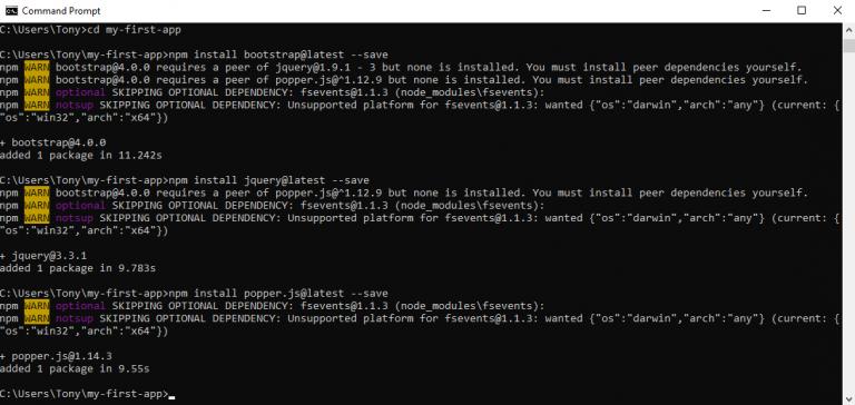 Single Page App (Angular 5, Bootstrap 4 & Node js)
